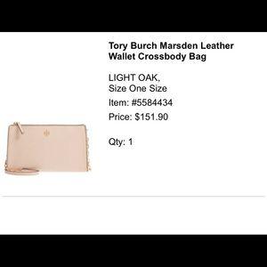 Tory Burch Marsden leather wallet cross body bag